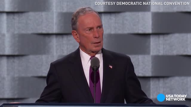 Former NYC Mayor Michael Bloomberg had some harsh words for Donald Trump while speaking at the Democratic National Convention.