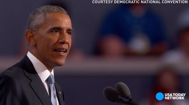 President Obama delivered an impassioned speech on Hillary Clinton's behalf during the third night of the Democratic National Convention.