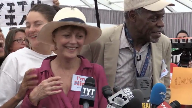 Sarandon, Glover, Woodley protest DNC snub