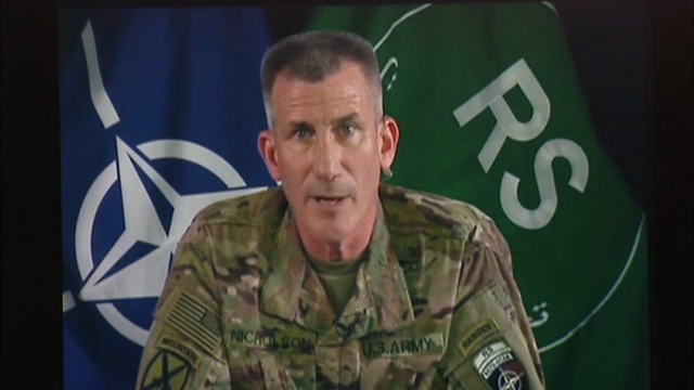 Five U.S. special operations troops were wounded in combat with Islamic State fighters in eastern Afghanistan, the senior U.S. commander in the country said Thursday. (July 28)