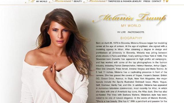 Melania Trump's website mysteriously disappears from the Internet