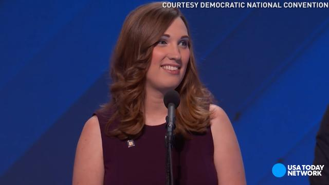 Sarah McBride is an LGBTQ activist and the first transgender person to speak at a major party convention. She is also the first openly trans woman to work at the White House as an intern.