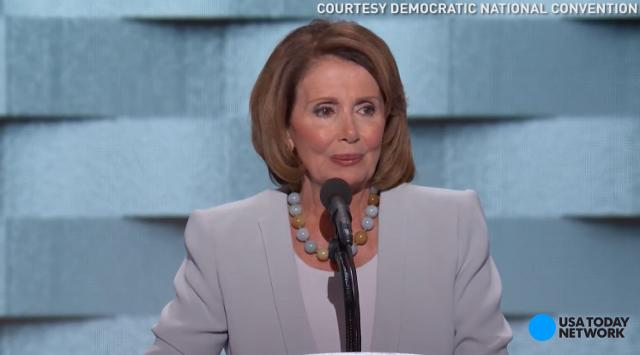 House Minority Leader Nancy Pelosi notes that electing Hillary Clinton will have an impact on the aspirations for future generations at the Democratic National Convention.
