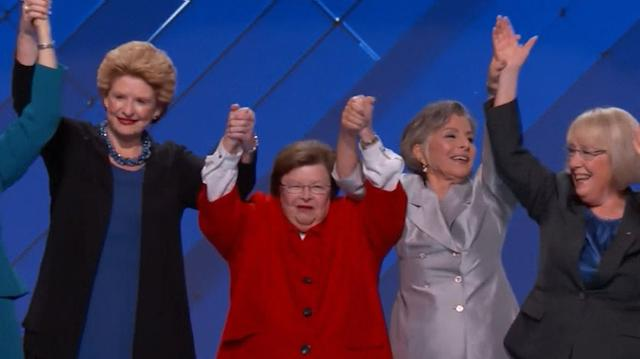 The women of the Senate are with Hillary Clinton