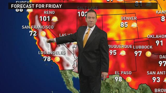 Friday's forecast: Triple digits for parts of Southwest