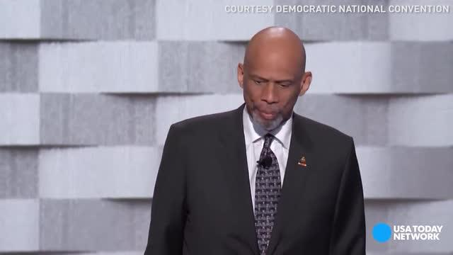 Kareem Abdul-Jabaar burns Trump with joke at Dem convention
