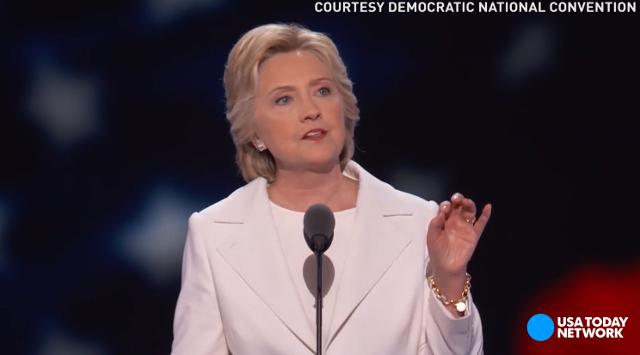 Hillary Clinton reminded delegates of America's history and how the founding fathers' lessons can help improve the country today during her acceptance speech at the Democratic National Convention in Philadelphia.