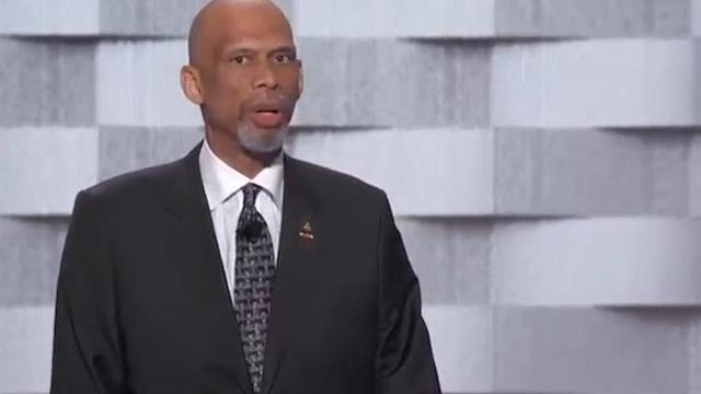 NBA legend Kareem Abdul-Jabbar slammed Donald Trump during his speech at the Democratic National Convention on Thursday, criticizing the Republican presidential nominee for anti-Muslim comments made throughout his campaign.