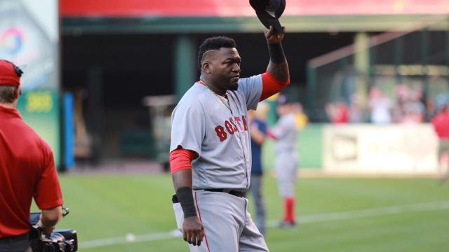 The Angels try out their best Big Papi impersonations