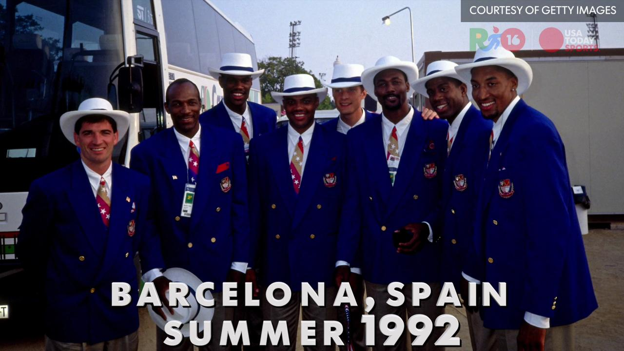 A look back at some of the different uniforms Team USA has worn at the Olympic Opening Ceremonies of the past several decades.