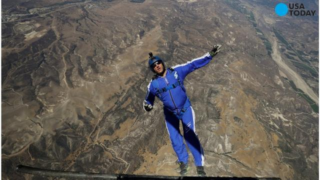 Luke Aikins has made 18,000 parachute jumps, but this weekend he will attempt a jump from 25,000 feet with no chute or wingsuit. He has been a skydiver instructor and Hollywood stuntman. Aikins is attempting to be the first person to jump from an airplane and landing into a net on the ground.