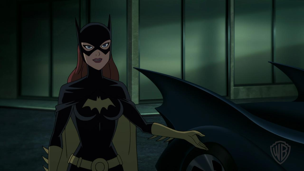 "Batman (voiced by Kevin Conroy) and Batgirl (Tara Strong) take down a bad guy in the animated film ""The Killing Joke,"" on Blu-ray and DVD Aug. 2."