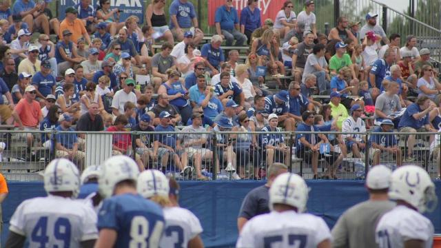 The MMQB's Emily Kaplan reports from Indianapolis Colts camp in Anderson, Indiana on the new and old surrounding QB Andrew Luck.