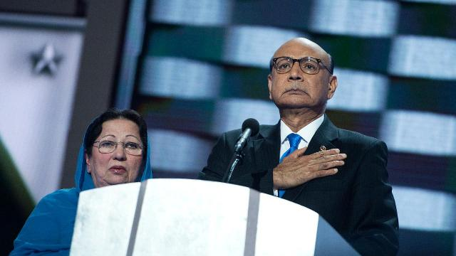 Fallen Muslim soldier's family fires back at Trump