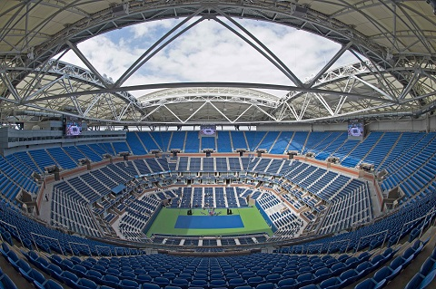 USA TODAY Sports gets a sneak peek at the retractable roof that's been added for the upcoming U.S. Open.