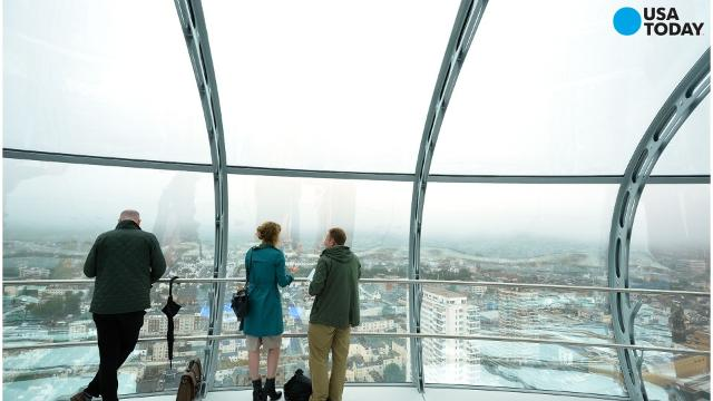 The 162-meter British Airways i360, which opens to the public on August 4 in the United Kingdom, is officially the world's tallest moving observation tower and also the world's slimmest thanks to a diameter of 3.9 meters and a height-to-width ratio of over 40:1.