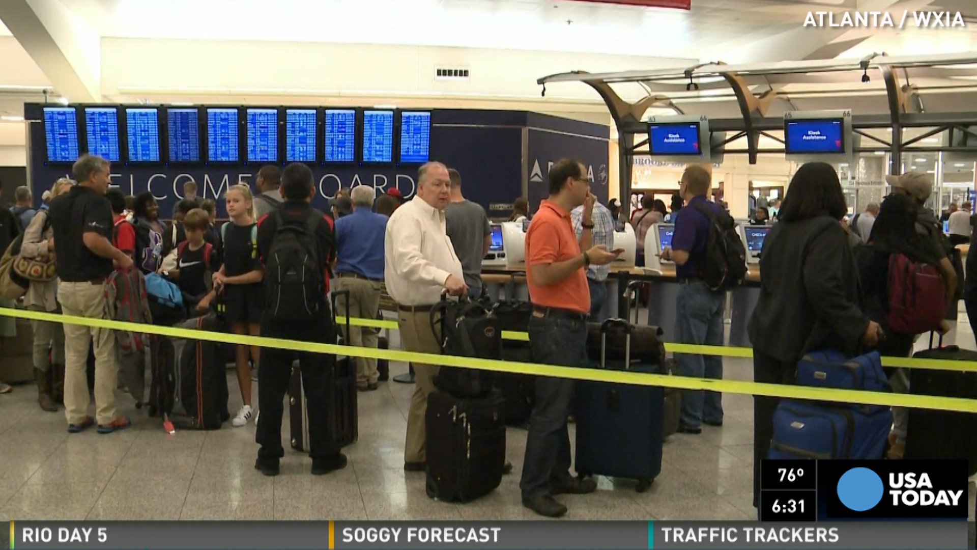 """Delta Air Lines tweeted that its systems were """"down everywhere."""""""