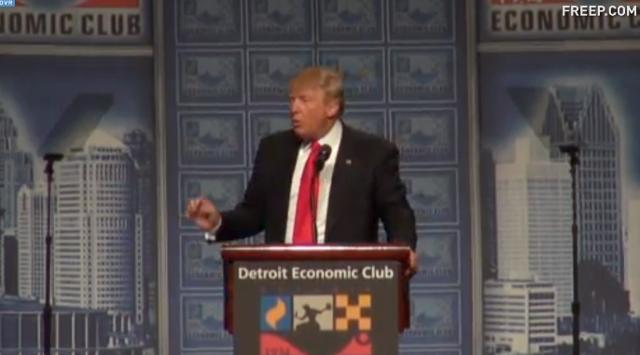 Trump lays out economic plan, blasts Clinton