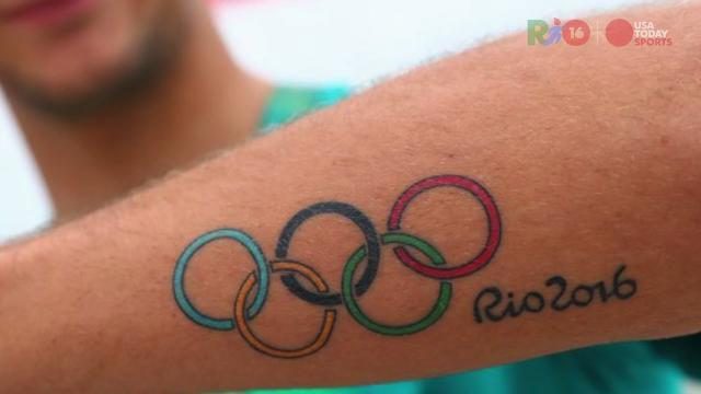 Athletes with Olympic tattoos in Rio