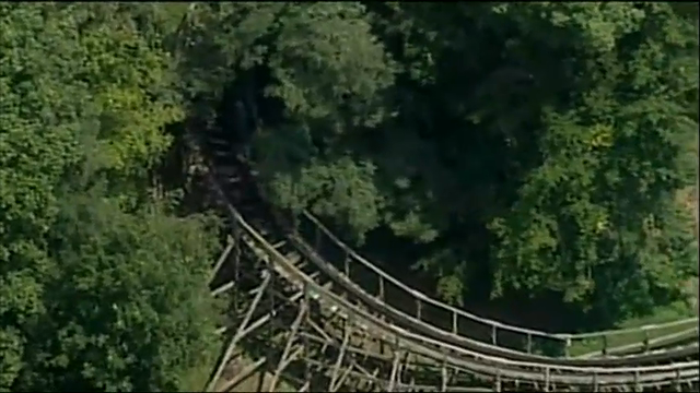 Raw: Child airlifted after coaster fall