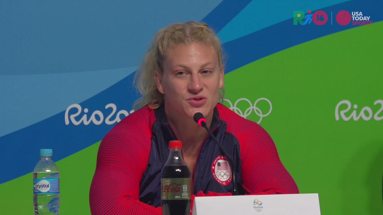 Harrison took gold in the Rio Games but all anyone wanted to know afterward was if she was retiring and going pro in mixed-martial arts.