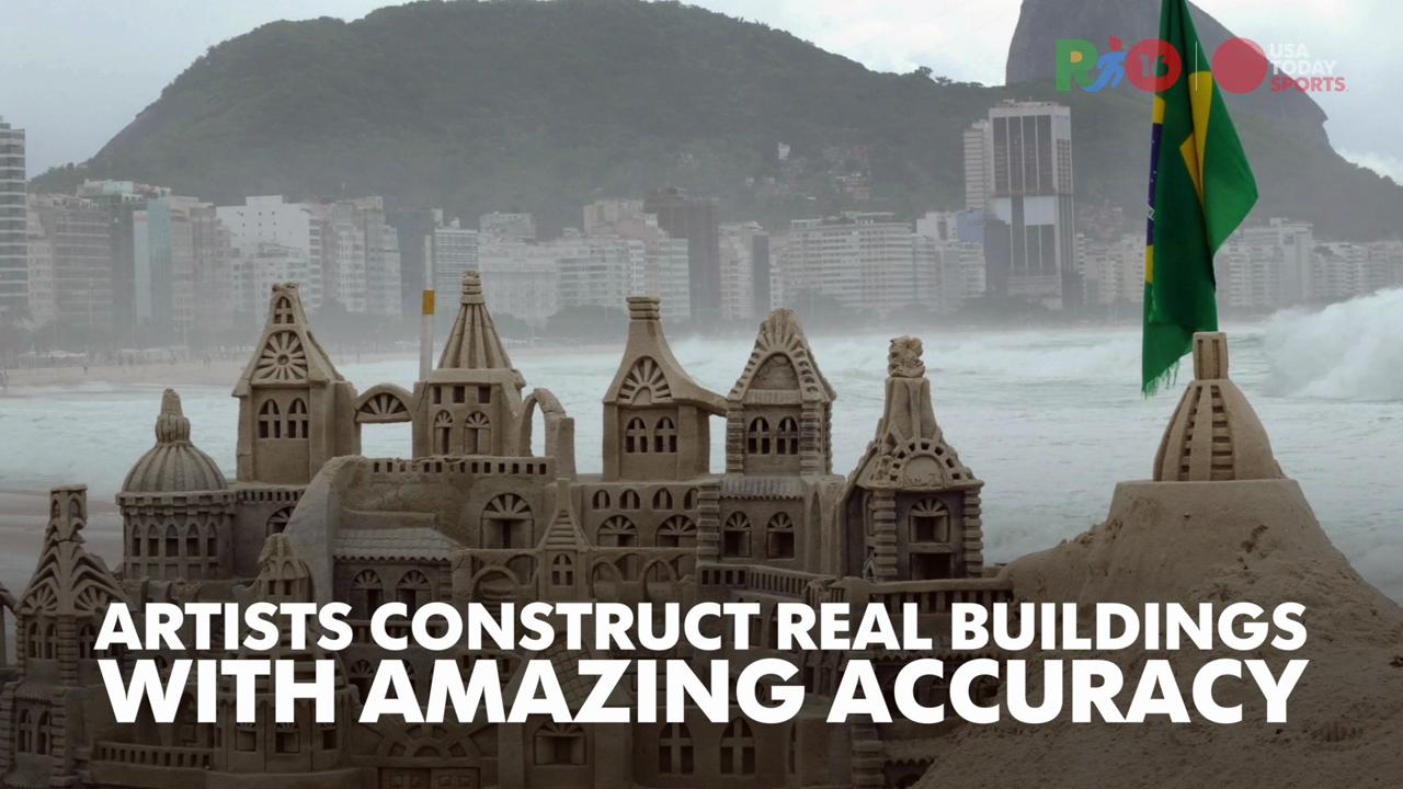 Rio Daily: The intricate beach sand castles