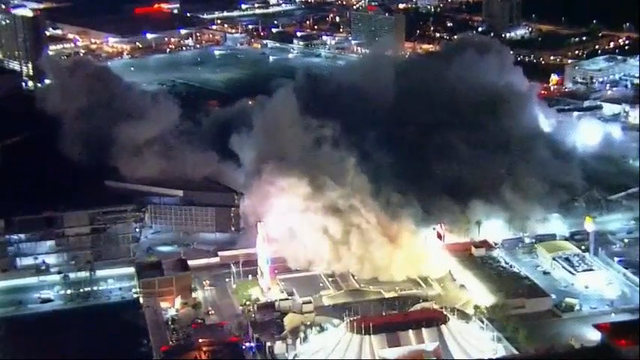 The last tower of the legendary Riviera Hotel and Casino was imploded on the Las Vegas Strip early Tuesday morning. (Aug. 16)