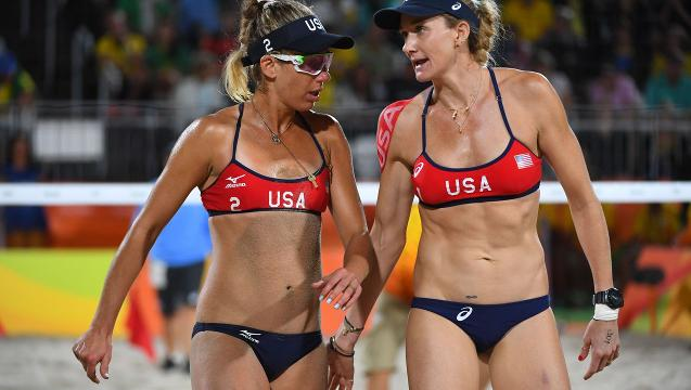 USA beach volleyball duo's quest for gold ends