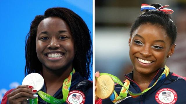 """Two U.S. Olympic medal winners are likely why searches for the baby name """"Simone"""" have spiked. Video provided by Newsy"""