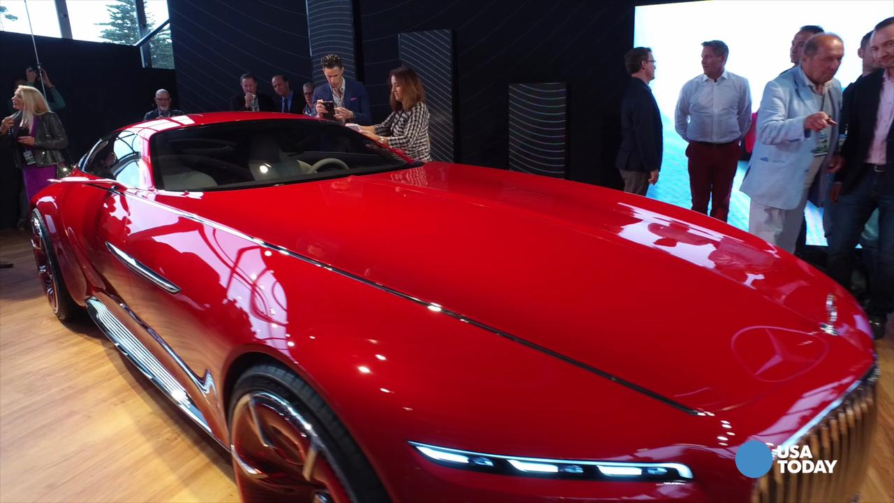 Mercedes introduced the Vision Mercedes- Maybach 6 concept car in Pebble Beach, Calif.
