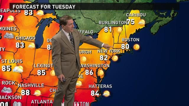 Tuesday's forecast: Gorgeous weather in the East
