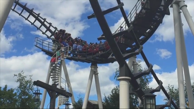Riders brought down from stuck coaster