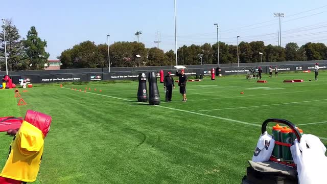Robot dummies at 49ers camp