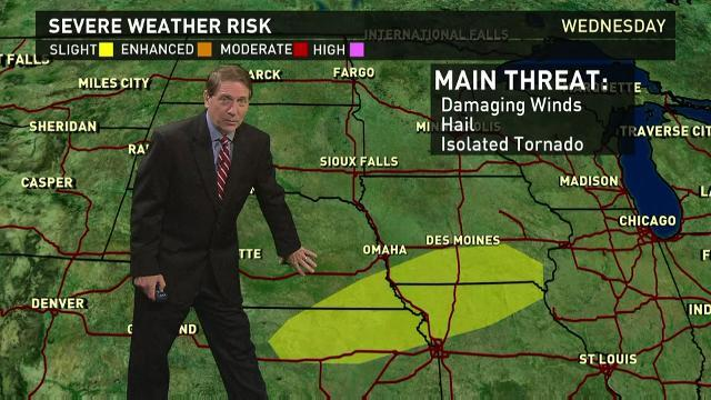 Wednesday's forecast: Heavy storms in Midwest, Plains