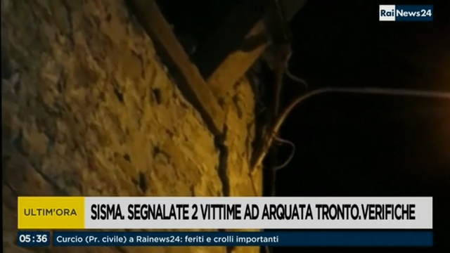 Raw: Strong Earthquake Hits Central Italy