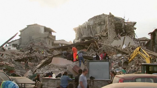 Italy's civil protection agency says at least 37 people have died in the magnitude 6 quake that struck central Italy. Crews are looking through the rubble of collapsed buildings for survivors and victims. (Aug. 24)