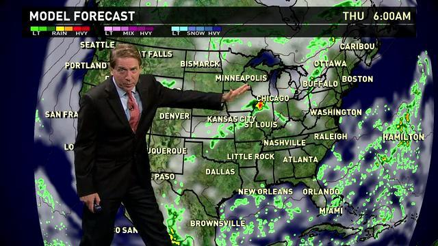 Thursday's forecast: Showers in Midwest, Northeast