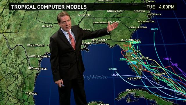 Tracking possible paths for potential tropical storm