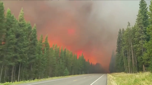 Raw: Fires in Yellowstone, Grand Teton Parks