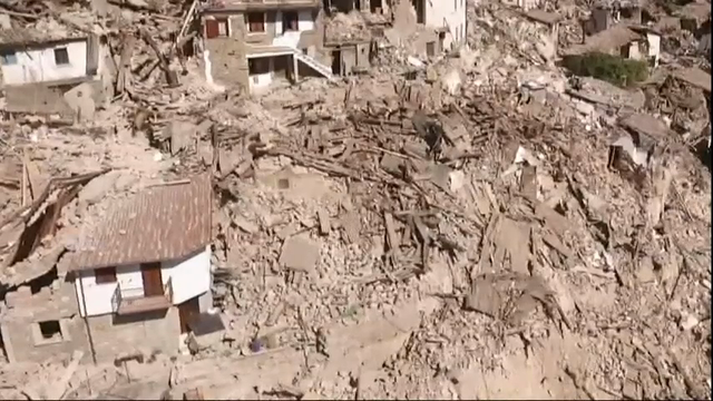 Drone footage from the earthquake-hit Pescara del Tronto on Thursday showed scenes of devastation with buildings reduced to rubble in the central Italian town. (Aug. 25)