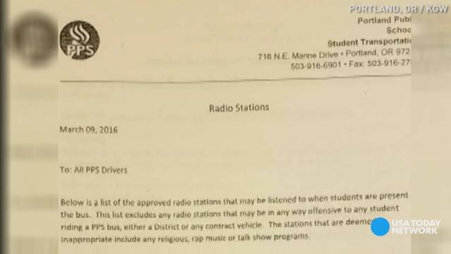 Parents are criticizing the Portland school district for prohibiting rap radio stations and other genres they consider offensive. Parents and students are calling the decision racist and unfair.