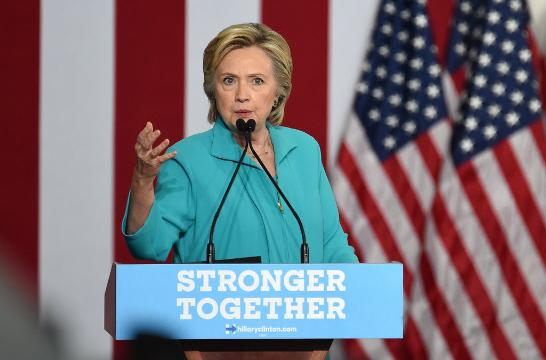Hillary Clinton criticized Donald Trump today for embracing radical elements of the right.