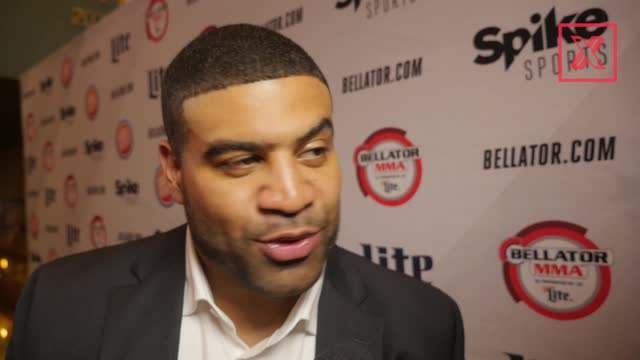 What's Shawne Merriman doing at a Bellator event?