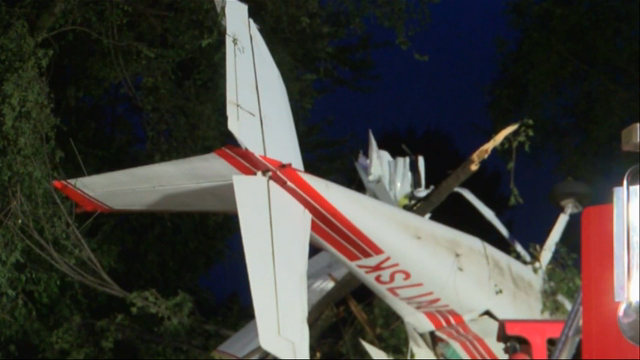 Raw: Two Hurt When Plane Hits Indiana House