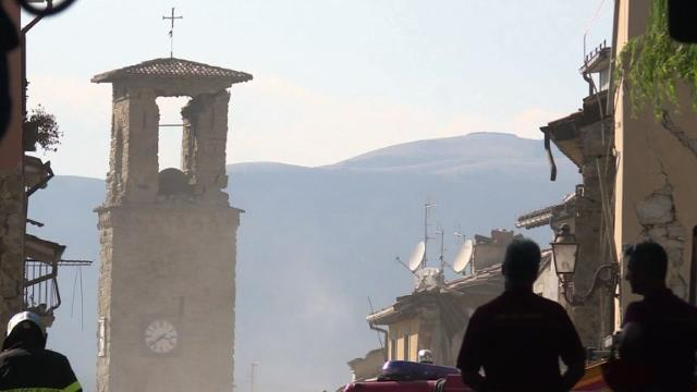 In Amatrice, the increasingly forlorn search for victims of the earthquake that brought carnage to central Italy continues. A day of mourning was declared for victims of a disaster that has claimed at least 267 lives. Video provided by AFP