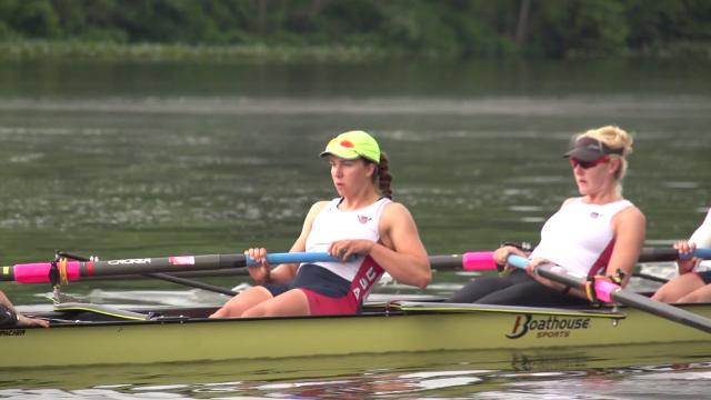 Gold medal winning rowers Amanda Polk and Amanda Elmore break down a typical day of training.