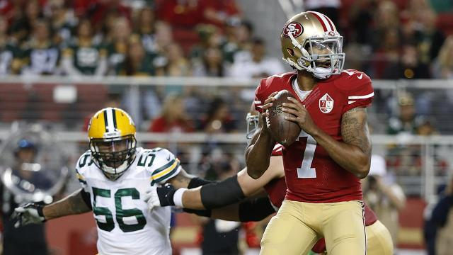 Colin Kaepernick sits out national anthem in protest of racial inequalities