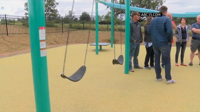 The hometown of an Arizona woman who was captured and killed by Islamic State militants now has a playground in her memory. (Aug. 28)