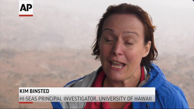 Six scientists have completed a yearlong Mars simulation in Hawaii, where they lived in a dome in near isolation. For the past year, the group in the dome on a Mauna Loa mountain could go outside only while wearing spacesuits. (Aug. 28)