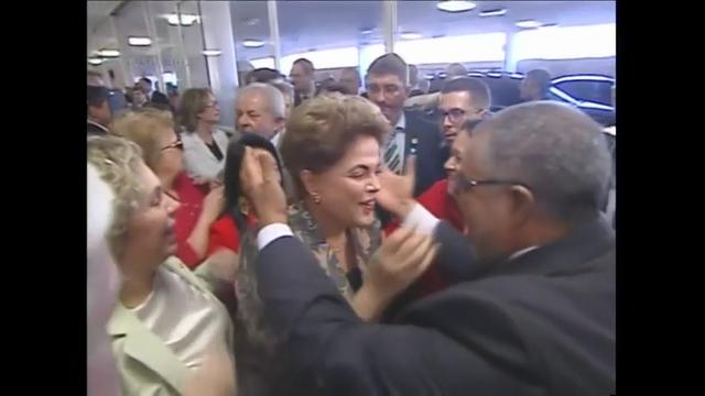 Raw: Rousseff arrives at impeachment proceedings